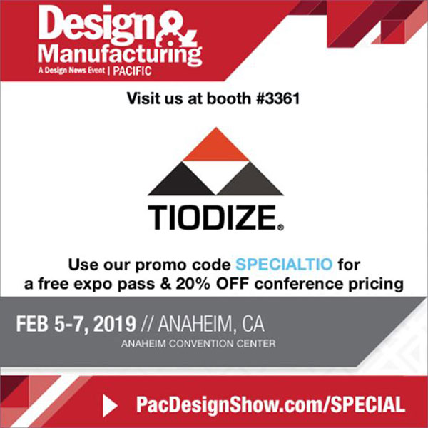 Pacific Design & Manufacturing Trade Show 2019