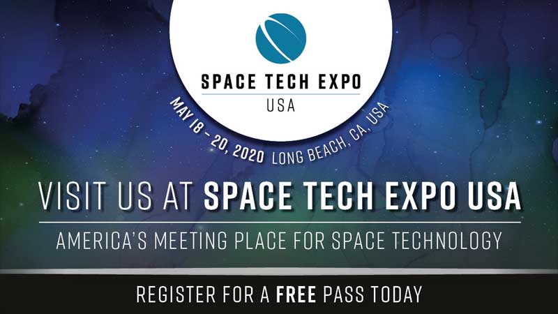 Space Tech Expo 2020, Long Beach CA. AMERICA'S MEETING PLACE FOR SPACE TECHNOLOGY