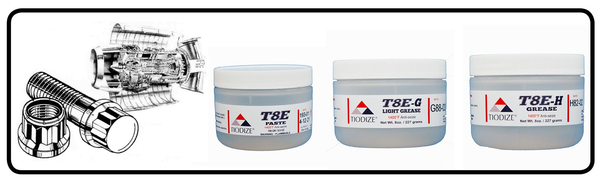 Tiodize T8E – 1400°F Lubricative Anti-Seize Greases